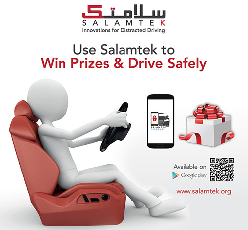 QMIC Launches Salamtek Advanced Personal Solution to Tackle Distracted Driving- Rewards Offered for Safest Drivers